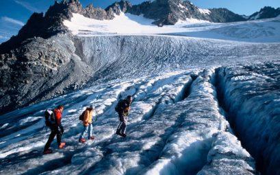 randonnées sur les glaciers