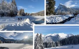 Samoëns sous un beau soleil et une neige fraîche